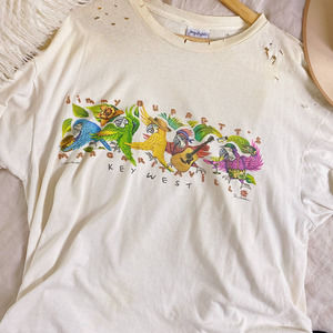 Vintage 2000 Jimmy Buffet Distressed White Tee